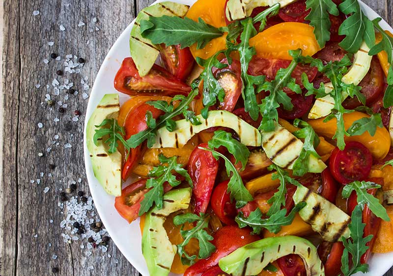 Summer-Sizzler-Avocado-and-Arugula-salad-
