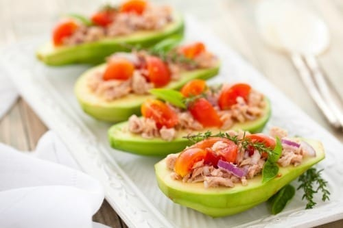 Fresh Avocado & Tuna Salad Boats