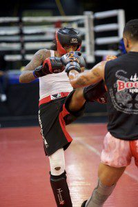 Muay Thai Kickboxing Push-kick