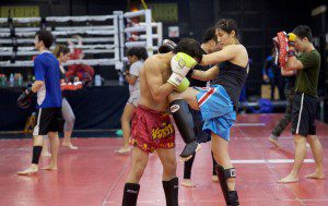 Muay Thai Kickboxing Left Knee